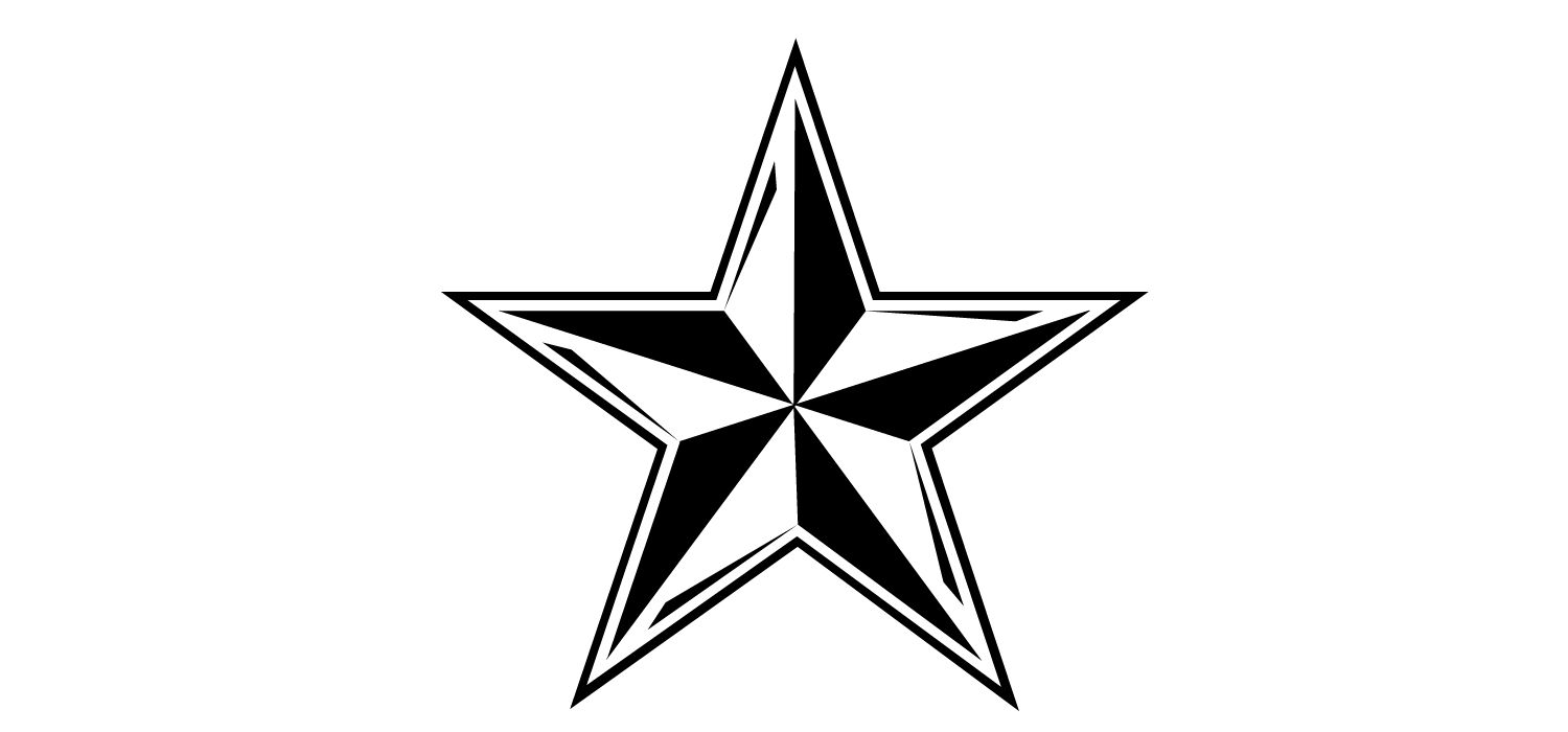 Star black and white star outline clipart 2