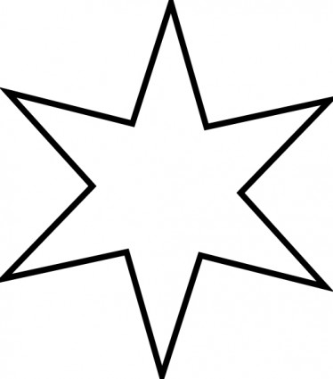 Star clip art outline free clipart images 7