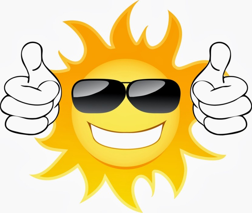 Sun with sunglasses clip art 2
