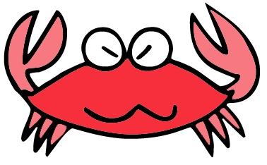 Top view of a crab clip art clipart