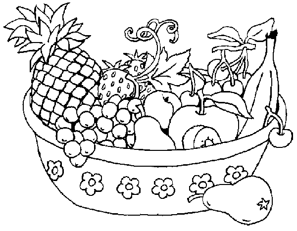 Vegetables  black and white basket of fruits and vegetables clipart black white