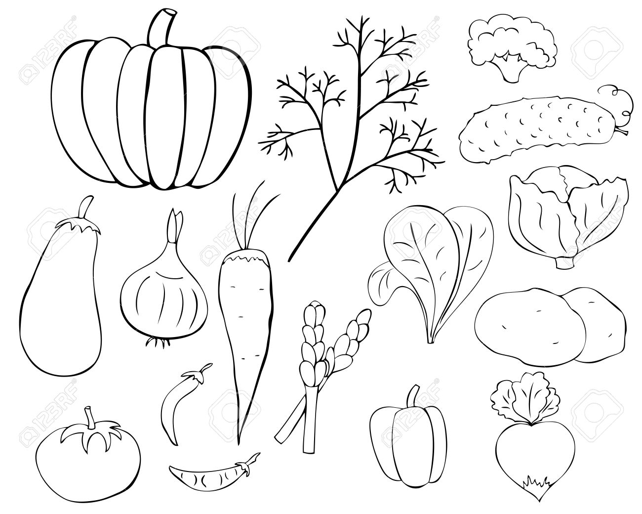 Vegetables  black and white clipart vegetables black and white google search designs