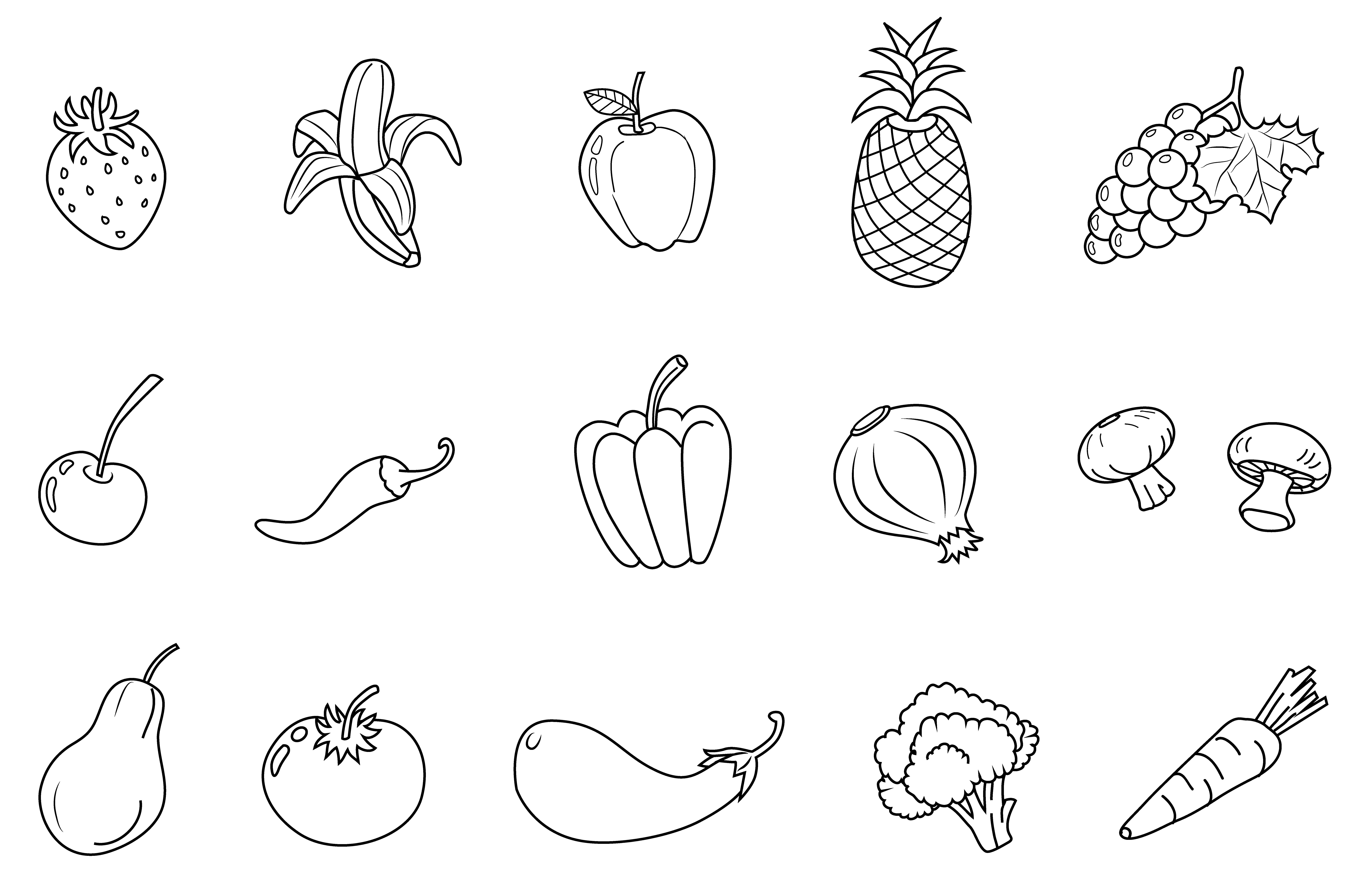 Vegetables Clipart Black And White – Gclipart com