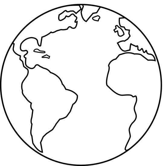 World black and white earth clipart clipart