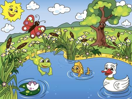 A pond clipart free