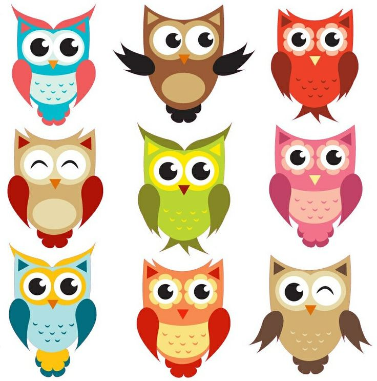 Anything owls that look like these owl clipart being a wise