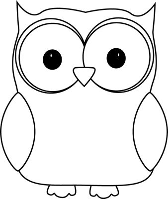 Baby owl clipart black and white free images