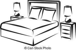 Bedroom clipart pencil and in color bedroom