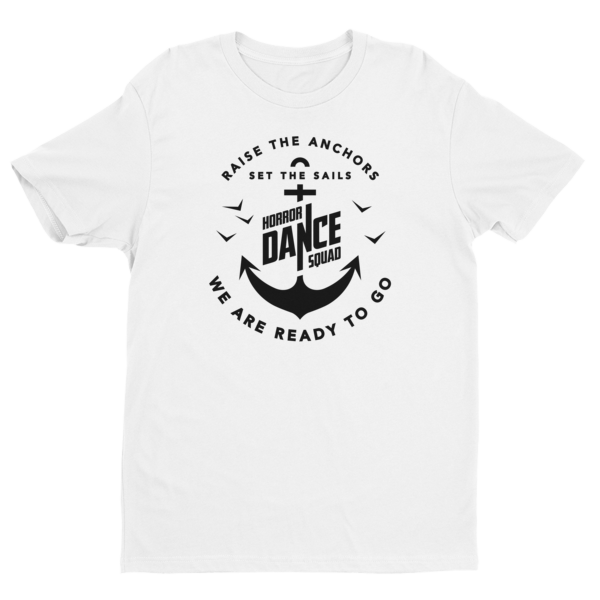 Black and white anchor anchor black short sleeve men'shirt horror dance squad