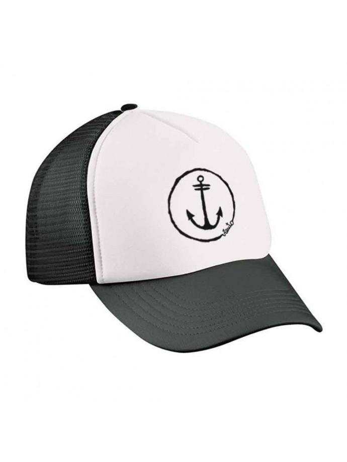 Black and white anchor trucker cap white anchor logo 2