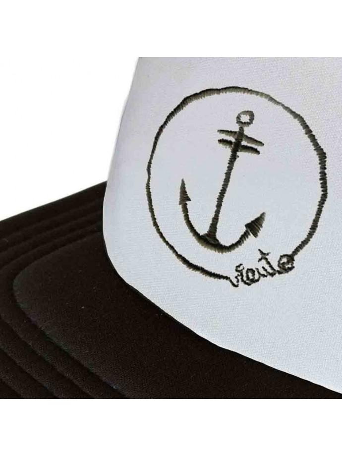Black and white anchor trucker cap white anchor logo 3