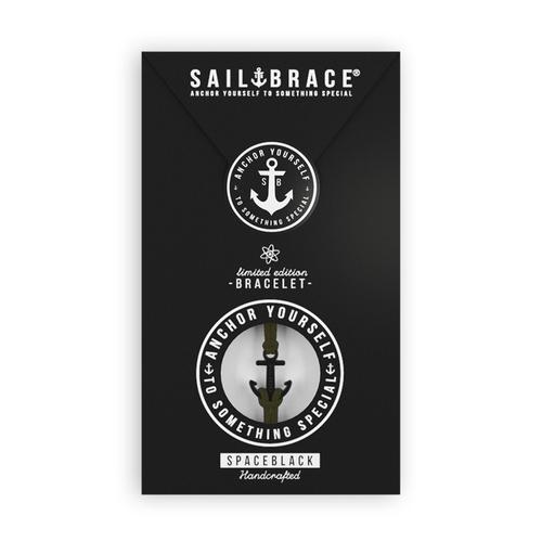 Black and white anchor white anchor bracelet venture sailbrace 2