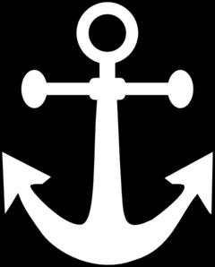 Black and white anchor white anchor clip art at vector clip art