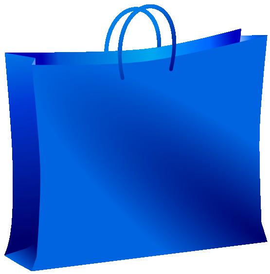 Blue shopping bag clip art free clipart images