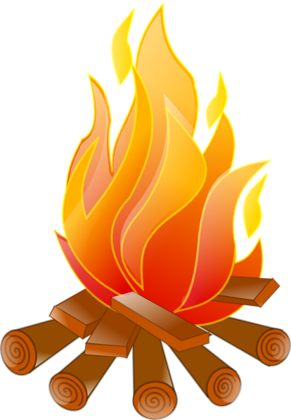 Bonfire camp fire free clipart