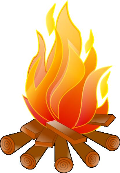 Bonfire camp fire free clipart