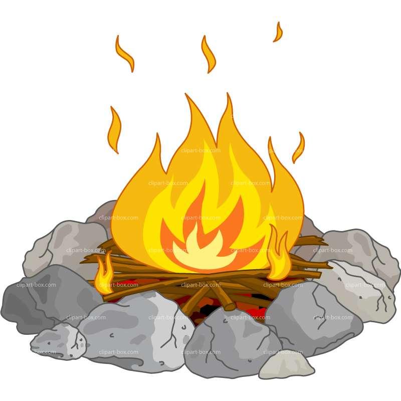 Bonfire campfire clipart 5