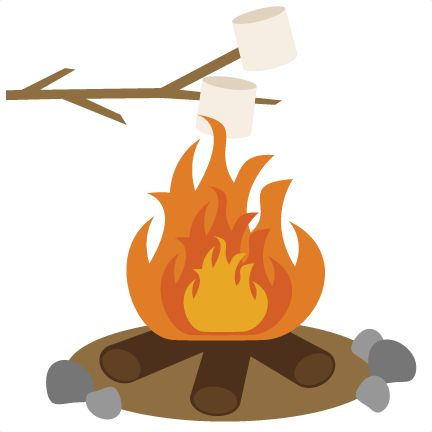 Bonfire clipart cute pencil and in color bonfire