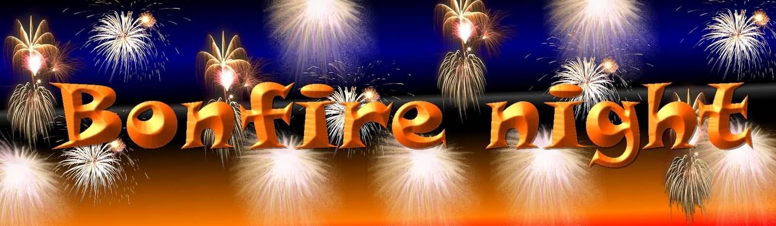 Bonfire night fireworks banner image clip art