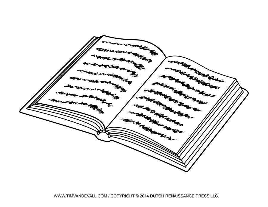 Book  black and white open book clip art template
