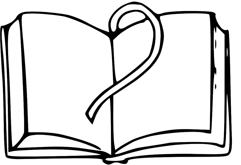 Book  black and white open book clipart black and white
