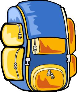 Bookbag backpack clip art at vector clip art 2