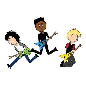 Boy band clipart image