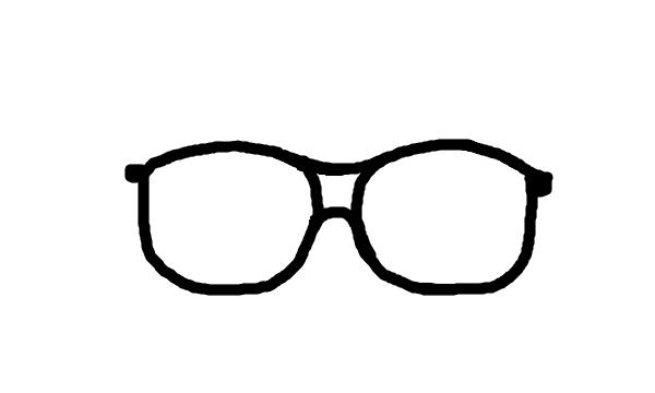 Cartoon nerd glasses clip art library 2