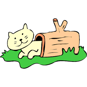 Cat in log clipart cliparts of free download wmf
