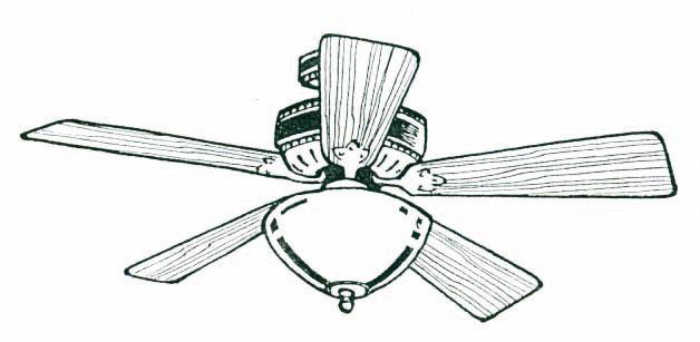 Ceiling fan clipart 2
