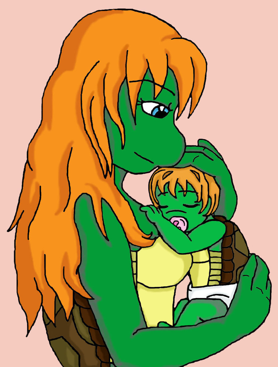 Charlotte and baby ashley nap time tmnt by becky on deviantart clipart
