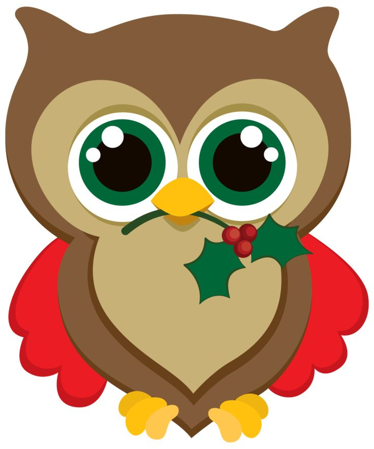 Christmas owl images on owl clip art