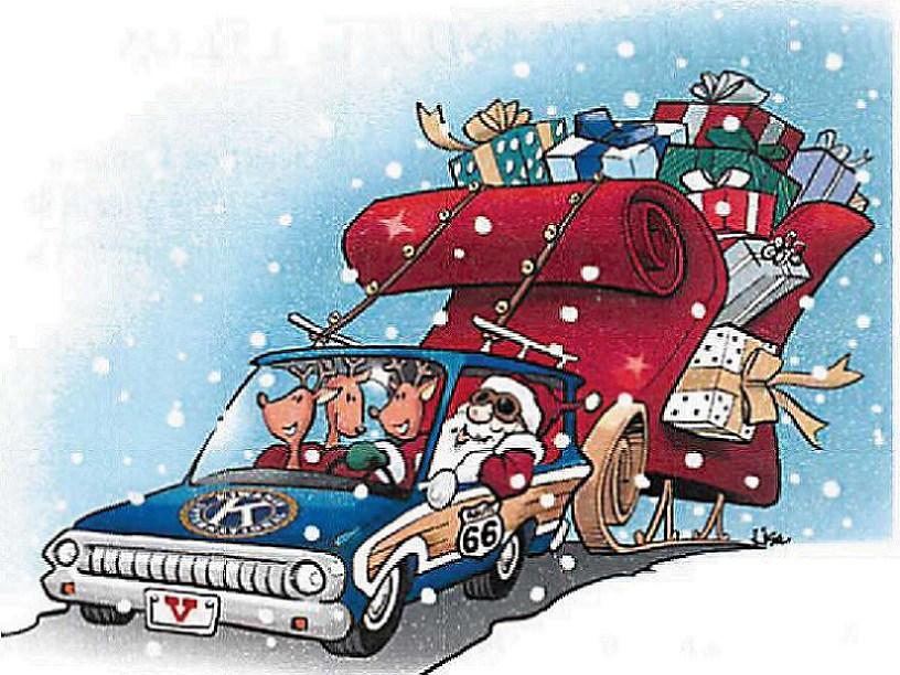 Christmas parade clipart