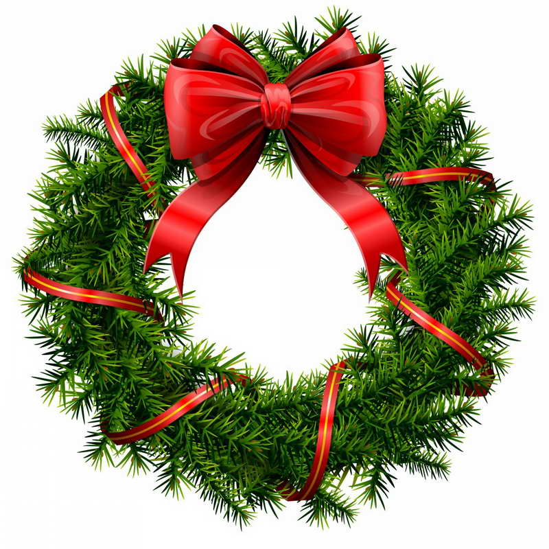 Christmas party christmas wreath clipart many interesting cliparts