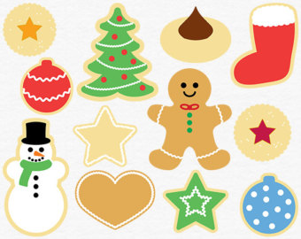 Christmas party food clipart free