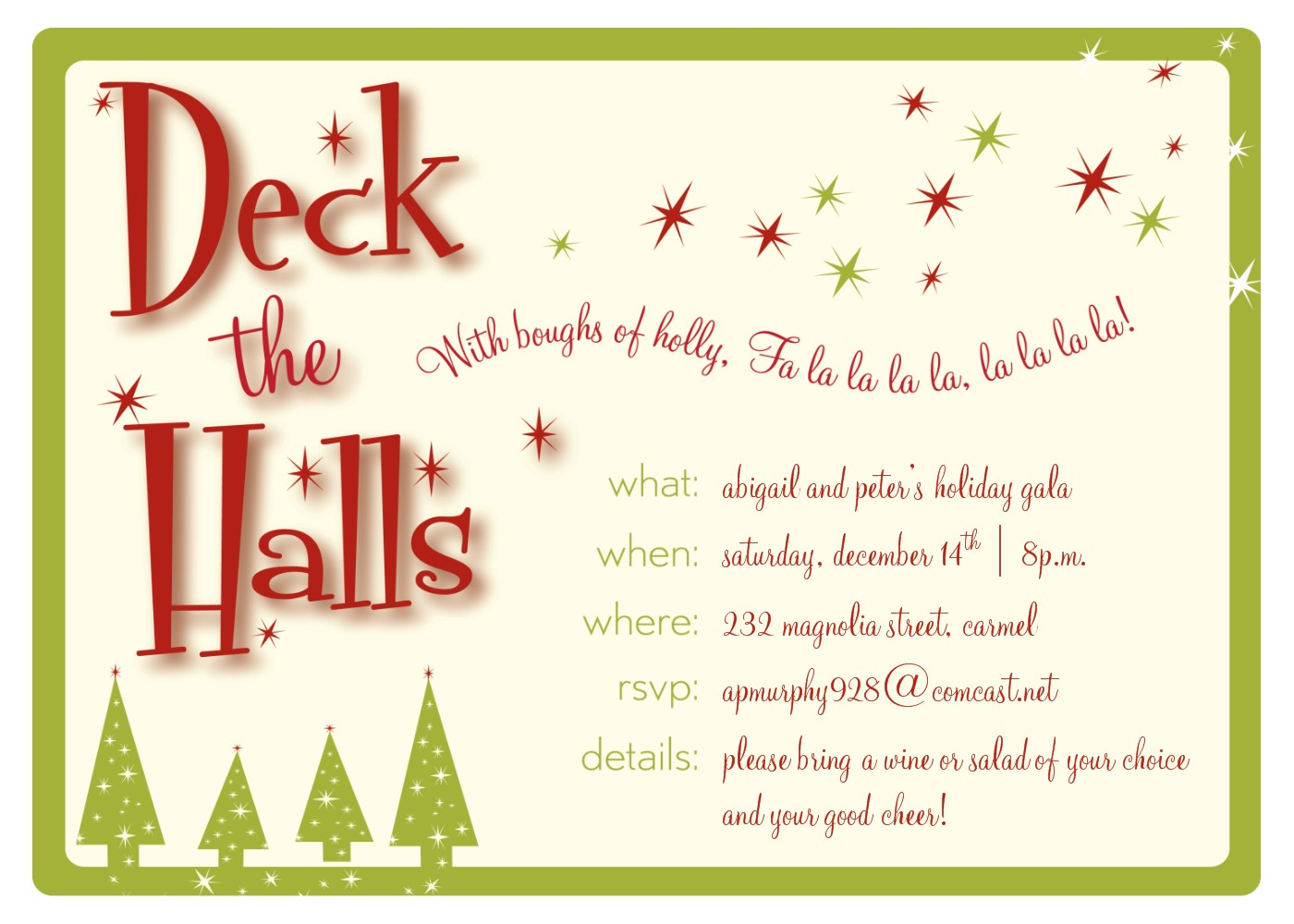 Christmas party invitation clipart