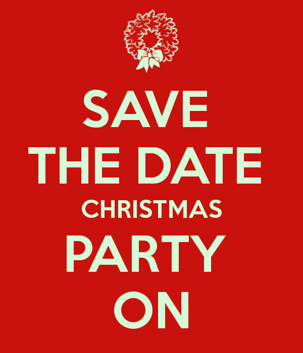Christmas party save the date holiday party clipart