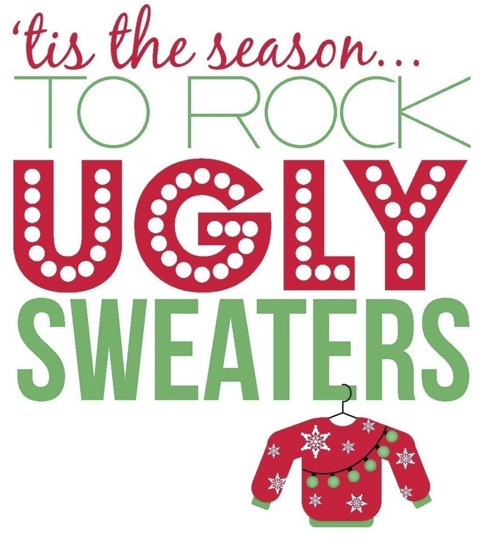 Christmas party ugly sweater party clipart clipartxtras