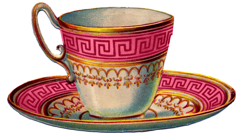 Christmas tea cup clipart
