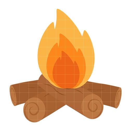 Clip art fire log clipart 2