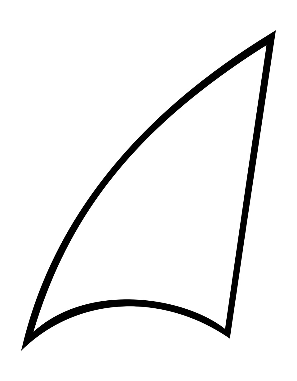 Clip art image shark fin sail id