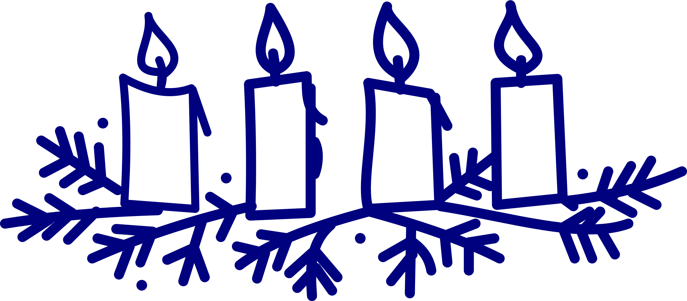 Clipart advent candles