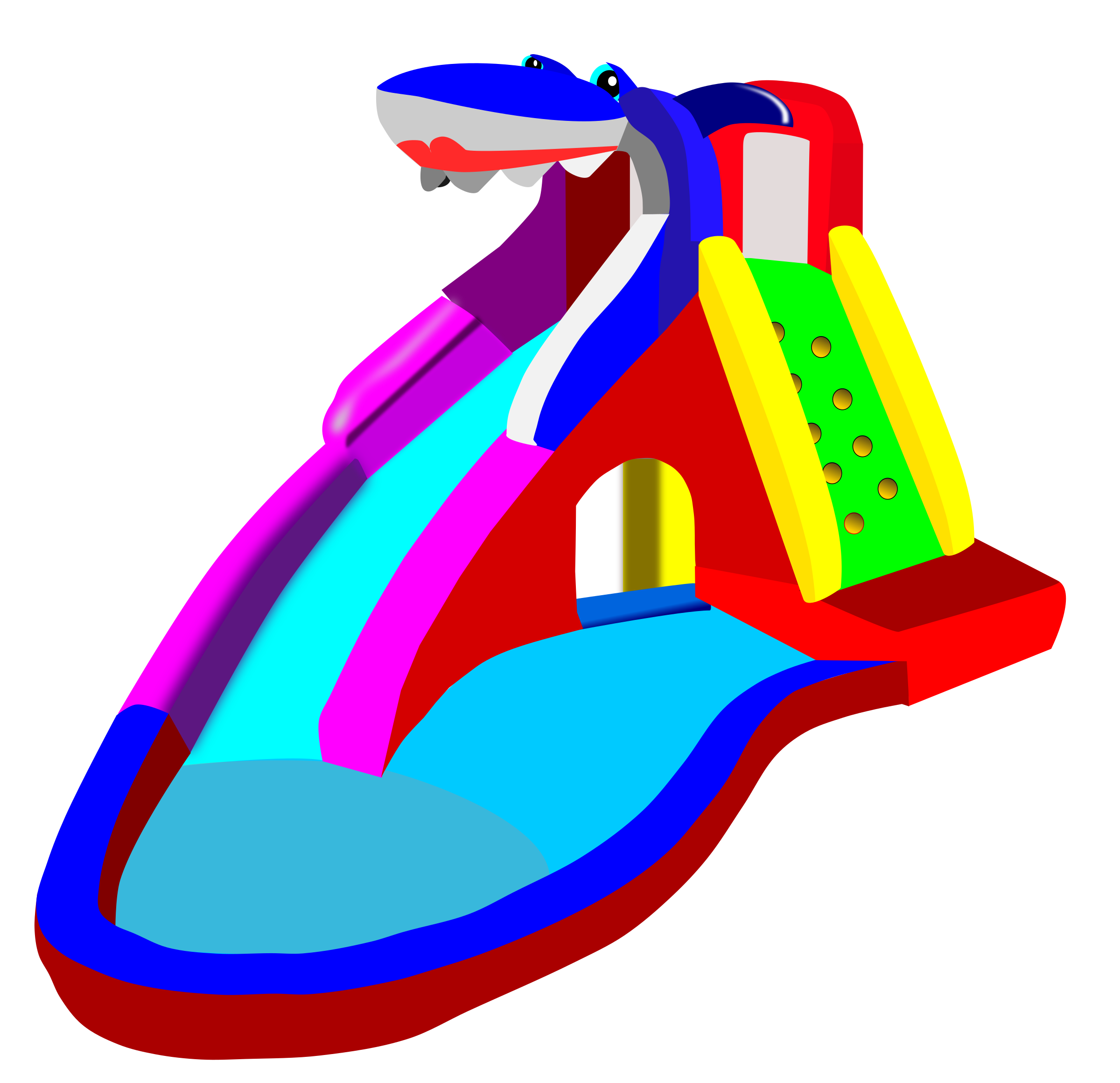 Clipart bouncy castle water slide pool