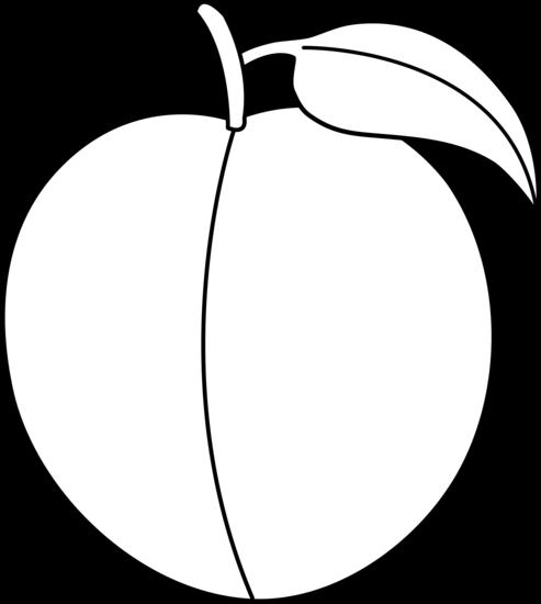 Colorable peach line art free clip image clipart