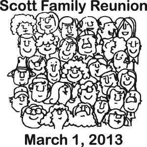 Custom clipart family reunion personalized drinkware