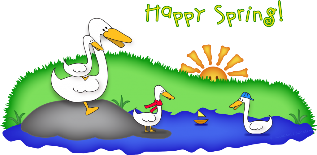 Duck in pond clipart clipart