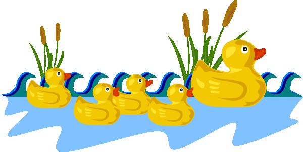 Duck pond clip art at vector clip art
