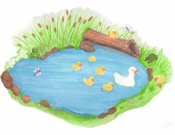 Duck pond clipart clipground