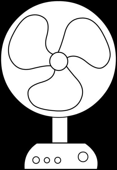 Electric fan line art free clip clipart