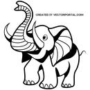 Elephant  black and white cartoon elephant clip art free vectors